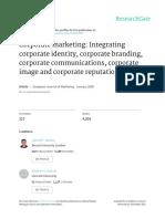 Corporate Marketing Integrating Corporate Identity