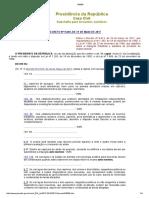 Decreto Nº 9.069, De 31 de Maio de 2017