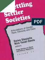 Unsettling Settler Societies - Yuval Davis
