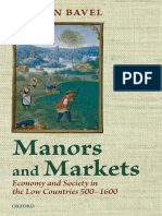 VAN BAVEL, Bas – Manors and markets. Economy and society in the Low Countries, 500-1600.pdf