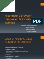 Reconocer y Prevenir Riesgos en La Industria Química