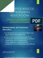 01 Conceptos Básicos Del Fenómeno «Educación»