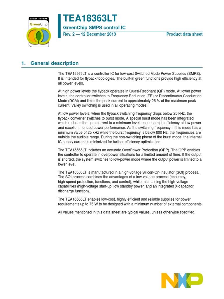 TEA18363LT pdf | Capacitor | Electronic Circuits