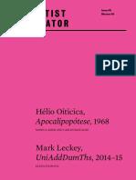 Helio Oiticica Apocalipopotese 1968