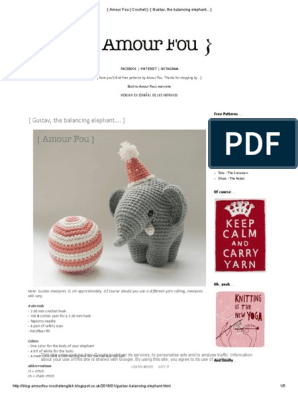 Toy Elephant Pattern #606 | Crochet Patterns | 396x298