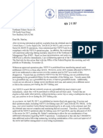 Read the NOAA letter to Sector IX