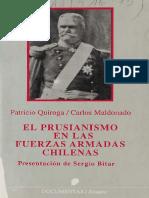 El Prusianismo en Las Fuerzas Armadas Chilenas