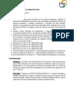 Resolucion N°5 2017-2 - JF - ARQUITECTURA