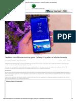 Teste de Resistência Mostra Que o Galaxy S8 Quebra a Tela Facilmente