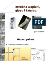 Przeróbka Wapieni, Gipsu i Kwarcu