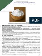 Bicarbonato Para El Tratamiento de La Diabetes