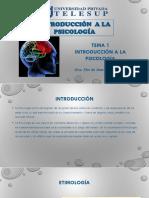 Tema 1.Introducción a La Psicología