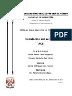 Manual de Instalación Del Servidor ACS