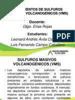 Yacimientos de Sulfuros Masivos Volcanogenicos. (2).Ppt