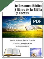 Manual de Resumen Bíblico de Los 66 Libros de La Biblia - Gabriel Guardia