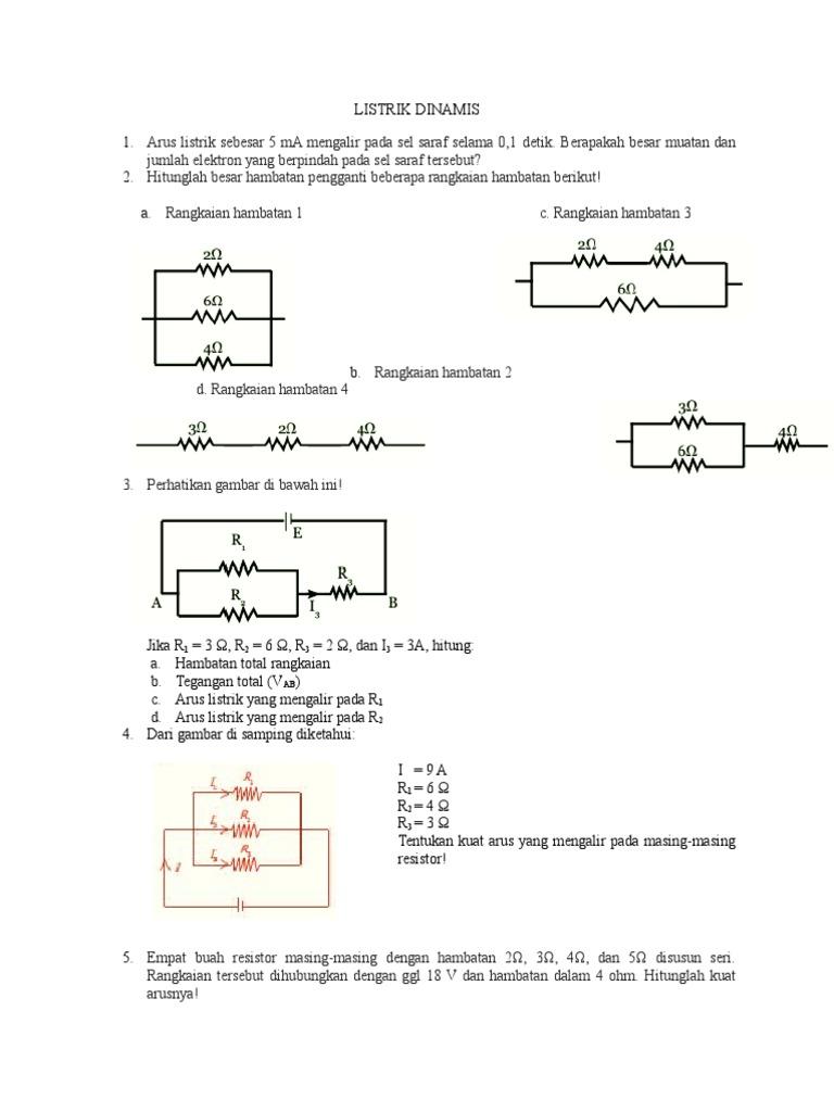Soal listrik dinamis ccuart Choice Image