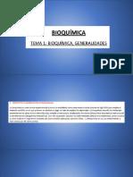 Bioquímica y generalidades