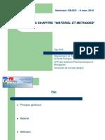 Redaction Matériels Et Methode