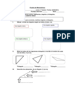 Prueba de Geometria 7mo 2015