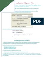 Java Database Handout