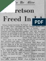 Garretson freed in LA