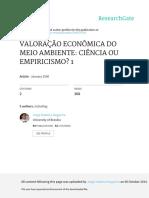 Valoracao Economica Do Meio Ambiente Ciencia Ou Em