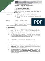 INFORME TECNICO SOBRE LA RECTIFICACION DE  LA RESOLUCION DIRECTORAL N° 10684 – 2015
