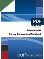 2015 BH Survey Preparation Manual CARF