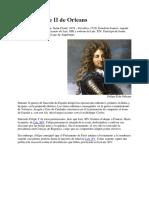 Duque Felipe II de Orleans