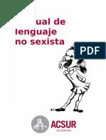 Resultado de imagen para Manual de lenguaje no sexista ACSUR