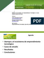 Presentación ALTEC 2015 - Ecosistema de Emprendimiento Tecnológico.pptx