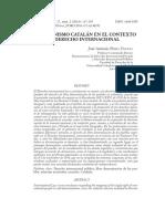 Secesionismo Catalán Contexto Internacional