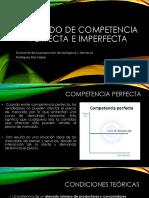Mercado de Competencia Perfecta e Imperfecta