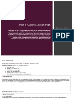 complete  assure lesson plan
