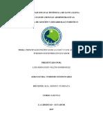 Principales Politicas de La OMT y Aspectos Del Turismo Sostenible de Ecuador