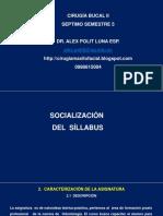 1. Socialización Del Sylabus.  Dr  Alex Polit Luna