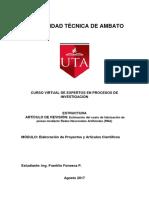 Estructura de Artículo de Revisión
