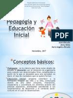 Pedagogía y Educación Inicial