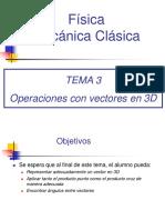 Operaciones Con Vectores en 3D