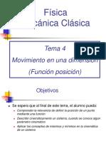 Tema 04 - Movimiento en Una Dimensión (Función Posición)