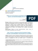 Política de Cotas - Estudo Interdisciplinar Da Lei n. 12.711-2012