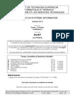 BTSIRIS Etude d Un Systeme Informatise 2013
