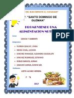 Caratula Proyecto Alimentos Nutritivos