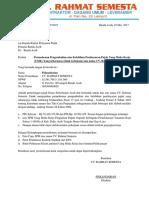 Surat Permohonan Pengembalian  Pajak