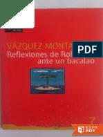 Reflexiones de Robinson Ante Un - Manuel Vazquez Montalban