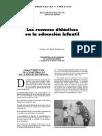 Recursos Didácticos en La Educación Infantil