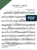 Bach J Christian Viola Concerto