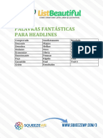 Palavras Fantásticas Para Headlines