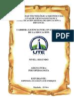 Espinoza Luis Psicopedagogía Tarea II 16-01-2016