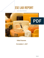 cheese lab report- nihal nazeem